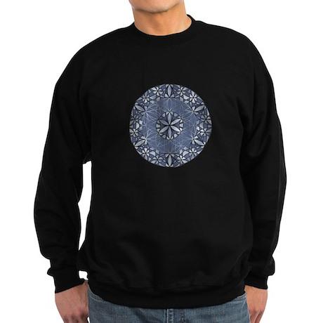 Sacred Geometry in Blue Sweatshirt (dark)