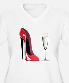 Champagne and Red Stiletto T-Shirt