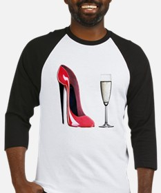 Champagne and Red Stiletto Baseball Jersey