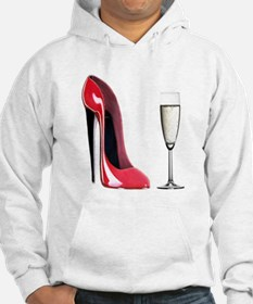 Champagne and Red Stiletto Hoodie