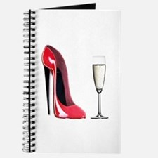 Champagne and Red Stiletto Journal