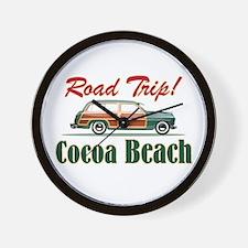 Cocoa Beach Road Trip - Wall Clock