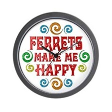 Ferret Happiness Wall Clock