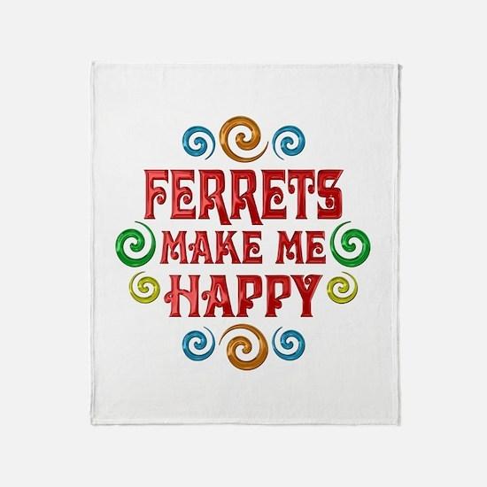 Ferret Happiness Throw Blanket