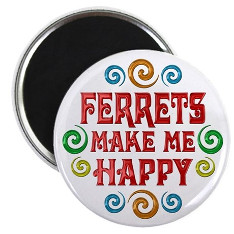 "Ferret Happiness 2.25"" Magnet (10 pack)"