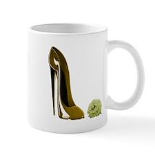 Golden Beige Stiletto Shoe an Mug