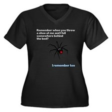 Spider's Revenge Shirt Women's Plus Size V-Neck Da