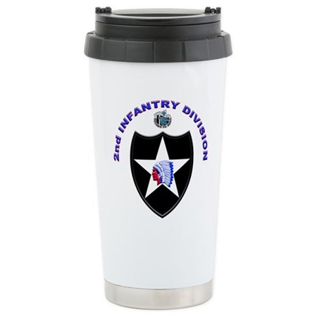 US Army 2nd Infantry Division Stainless Steel Trav