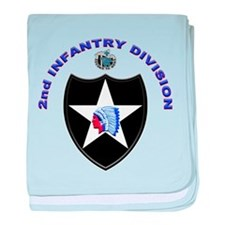 US Army 2nd Infantry Division baby blanket