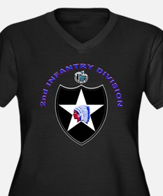 US Army 2nd Infantry Division Women's Plus Size V-