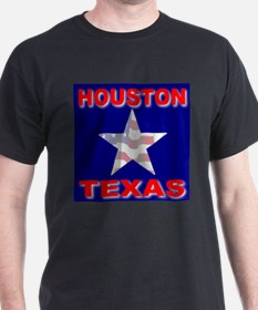 Houston Texas Black T-Shirt