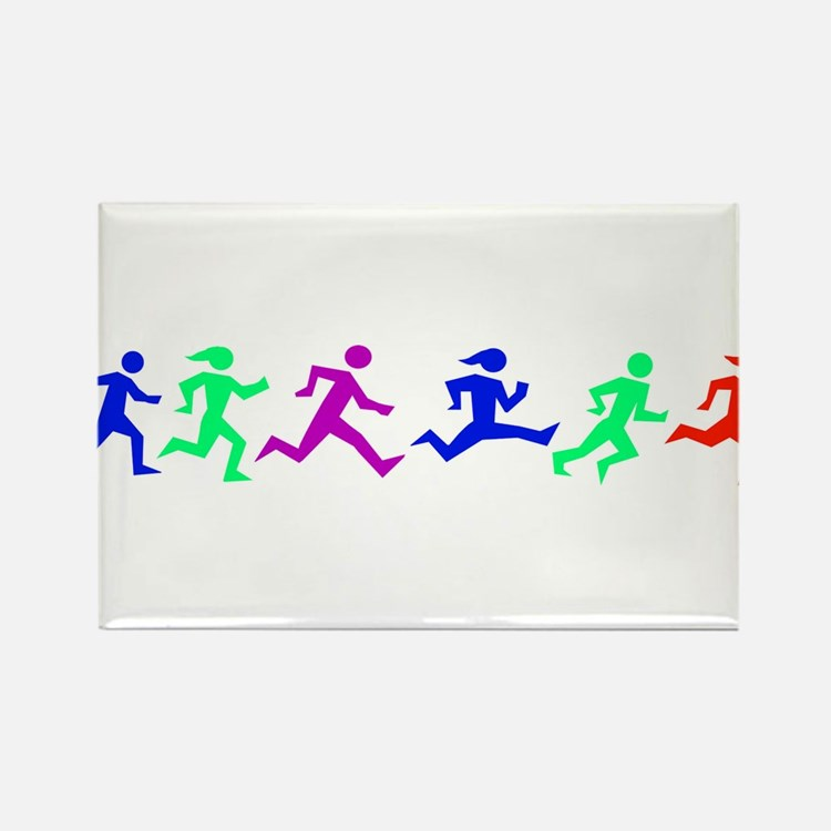 Cute Running in the usa race results clubs Rectangle Magnet (10 pack)