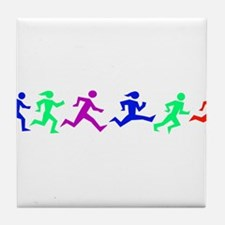 Cute Running in the usa race results clubs Tile Coaster
