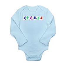 Unique Running usa race results clubs Long Sleeve Infant Bodysuit