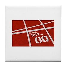 Cute Jog Tile Coaster