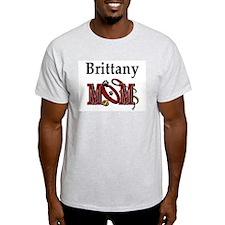 Brittany Spaniel Mom Ash Grey T-Shirt