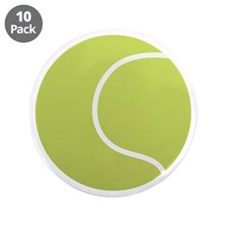 "Tennis Ball Icon 3.5"" Button (10 pack)"