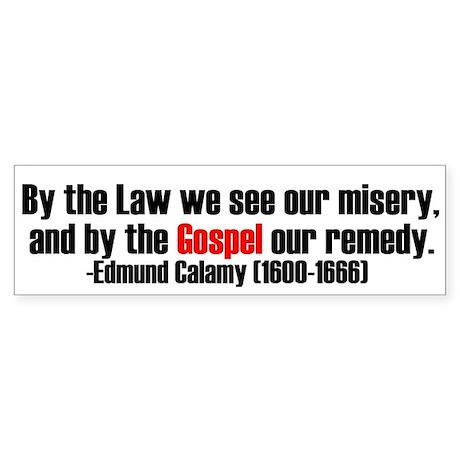 Law And Gospel Bumper Sticker