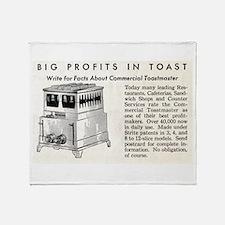 Toast Profits Throw Blanket