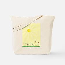 Cute Flowers and butterflies Tote Bag