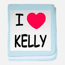 I heart kelly baby blanket