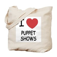 I heart puppet shows Tote Bag