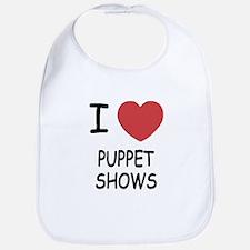 I heart puppet shows Bib
