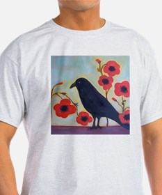 Crow and Poppies T-Shirt
