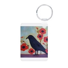 Crow and Poppies Keychains