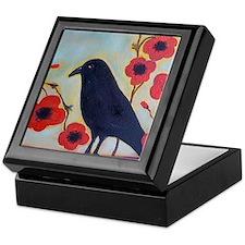 Crow and Poppies Keepsake Box