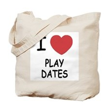 I heart play dates Tote Bag