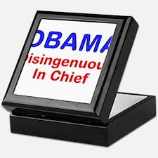 OBAMA - Disingenuous In Chief Keepsake Box