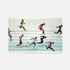 Funny Running in the usa race results clubs Rectangle Magnet (10 pack)