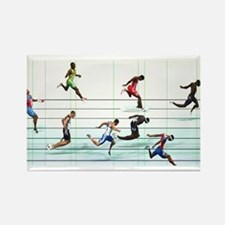 Funny Running in the usa race results clubs Rectangle Magnet