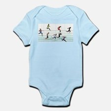 Running in the usa race results clubs Infant Bodysuit