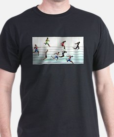 Unique Running in the usa race results clubs T-Shirt