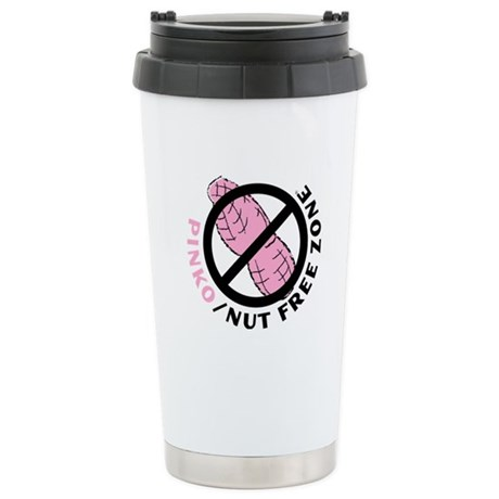 Pinko/Nut Free Zone Stainless Steel Travel Mug
