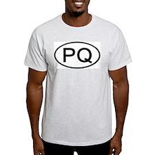 PQ - Initial Oval Ash Grey T-Shirt