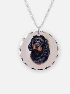 Gordon Setter Necklace Circle Charm