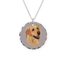 L:abrador Retriever (Yellow) Necklace