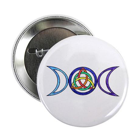 """Balanced Indigo Moon 2.25"""" Button"""