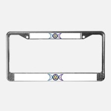 Balanced Indigo Moon License Plate Frame