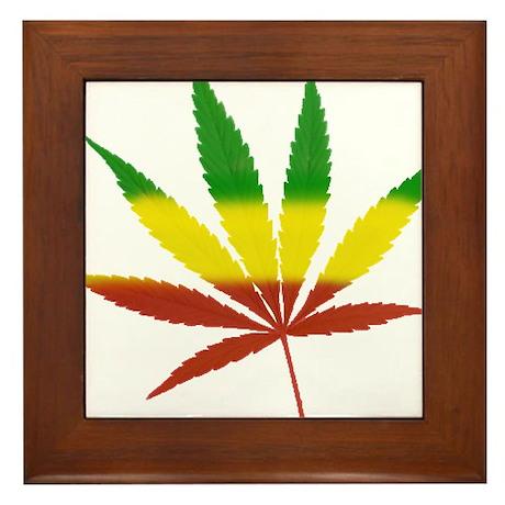 Rastafarian Lion Framed Tile