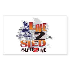 Live 2 sled sled 2 live Decal