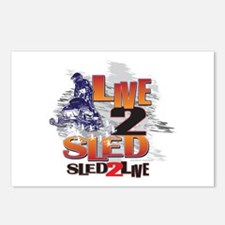 Live 2 sled sled 2 live Postcards (Package of 8)