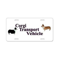 Corgi Tranportation Vehicle Aluminum License Plate