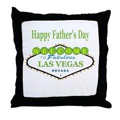 Las Vegas Happy Father's Day Throw Pillow