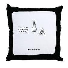 Bun6 wasting time Throw Pillow