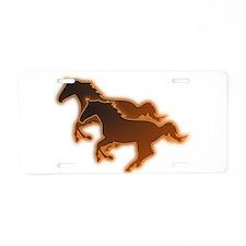 Cute Horse sports Aluminum License Plate
