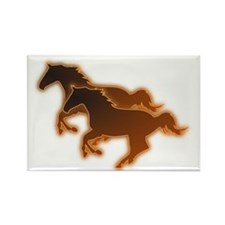 Two Horses Rectangle Magnet (100 pack)